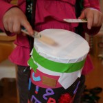 Recycle craft: drum making
