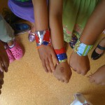 Duct tape and fabric bracelets