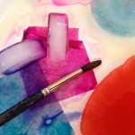 Bleeding colors from tissue paper