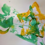 Printing with objects at the easel