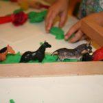 Play dough with animal figures