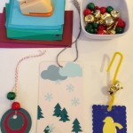 Ornaments and bookmarks with paint samples