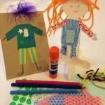 Dressing paper dolls