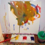 Watercolors as the easels