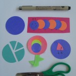 Paper circle fractions and flowers