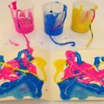 Pressed string paintings