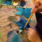 Painting wooden shapes