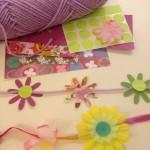 Spring flower garlands