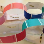 Paint chip paper chains