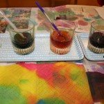 Color mixing with watercolors