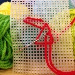 Needlepoint with yarn