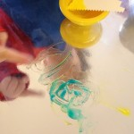Color mixing with colored gel