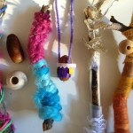 Acorn necklaces and nature wands