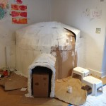 Igloo building continues