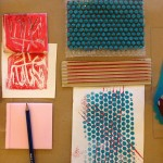 Printmaking with cardboard, bubble wrap, and more