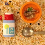 Creating rice and bean shakers