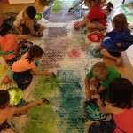 Printing with bubble wrap at the Summer Program