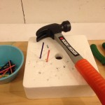 Hammering on styrofoam and bubble wrap
