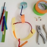 Create a mobile with wire, paper, and more