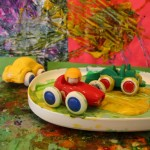 Painting with cars at the easel