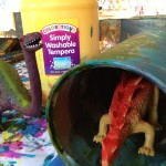 Boxes, tubes, and dinosaurs to paint