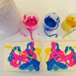 Fold paintings with string