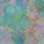 Printing with colored bubbles
