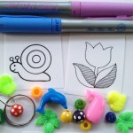 Beading with shrinky dinks