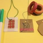 Cardboard pendants