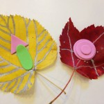 Decorating fall leaves