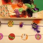 Crafting Halloween garlands