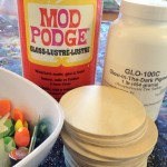 Glow in the dark Mod Podge construction