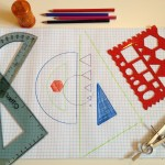 Drafting supplies and stencils