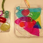 Color mixing with transparent craft supplies