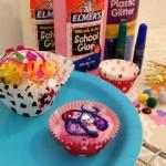 Making glue cupcakes