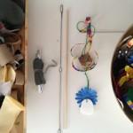 Making cat toys!