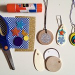 Wood and paper charms