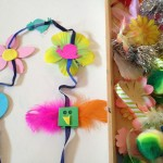Garlands with festive decorations