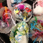 Making paper cupcakes