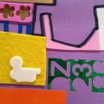 Scrap sticker collages