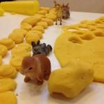 Playdough and animal figures