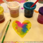 Color mixing with liquid watercolors