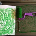 Mono prints with cookie sheets
