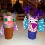 Cardboard tube puppets