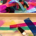 Tissue paper color transfer