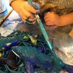 Pasta, paint, and animal figures
