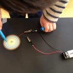 Spin art with circuitry