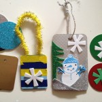 Hanging ornaments and gift tags