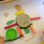 Arranging objects at the sticky table