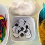 Feathered friends with modeling dough